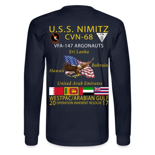 USS NIMITZ w/ VFA-147 2017 LONG SLEEVE CRUISE SHIRT - Men's Long Sleeve T-Shirt