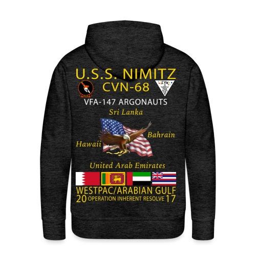 USS NIMITZ w/ VFA-147 2017 CRUISE HOODIE - Men's Premium Hoodie