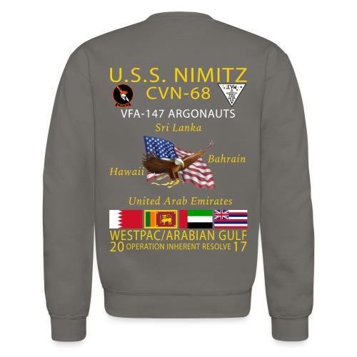 USS NIMITZ w/ VFA-147 2017 CRUISE SWEATSHIRT - Crewneck Sweatshirt