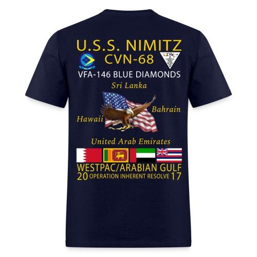 USS NIMITZ w/ VFA-146 2017 CRUISE SHIRT - Men's T-Shirt