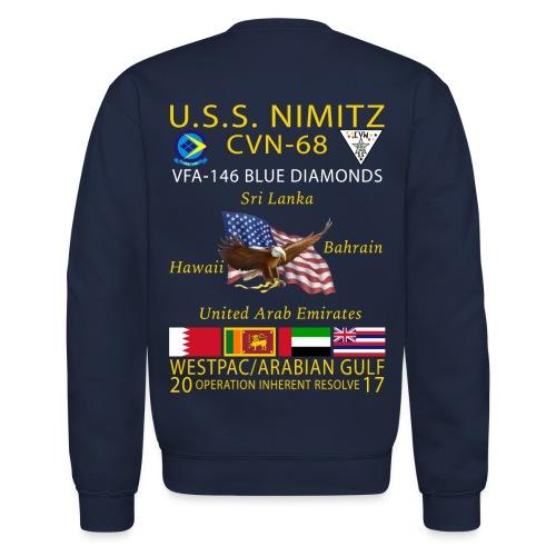USS NIMITZ w/ VFA-146 2017 CRUISE SWEATSHIRT - Crewneck Sweatshirt