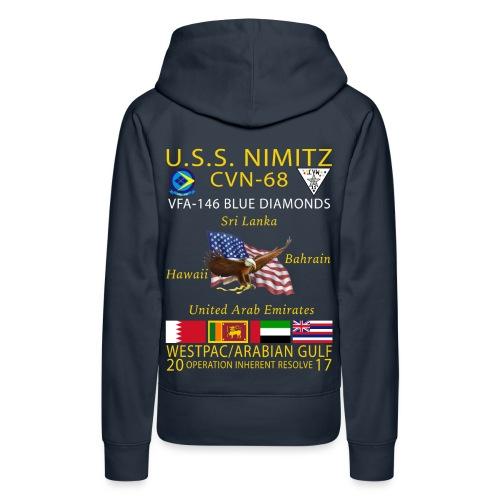 USS NIMITZ w/ VFA-146 2017 WOMENS CRUISE HOODIE - Women's Premium Hoodie