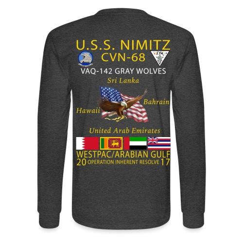 USS NIMITZ w/ VAQ-142 2017 LONG SLEEVE CRUISE SHIRT - Men's Long Sleeve T-Shirt