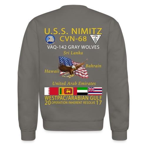 USS NIMITZ w/ VAQ-142 2017 CRUISE SWEATSHIRT - Crewneck Sweatshirt