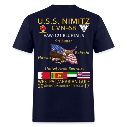 USS NIMITZ w/ VAW-121 2017 CRUISE SHIRT - Men's T-Shirt
