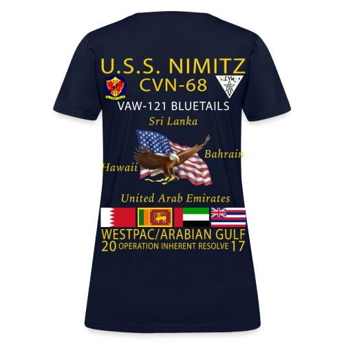 USS NIMITZ w/ VAW-121 2017 WOMENS CRUISE SHIRT - Women's T-Shirt