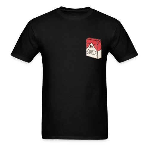 Mens Suicide Cigarette Box Logo T-Shirt - Men's T-Shirt