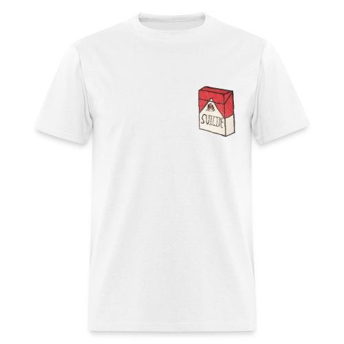 Mens Suicide Cigarette Box Logo T-Shirt (White) - Men's T-Shirt