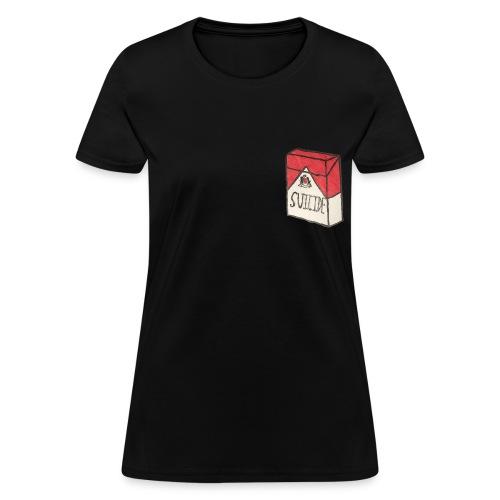 Womens Suicide Cigarette Box Logo T-Shirt - Women's T-Shirt