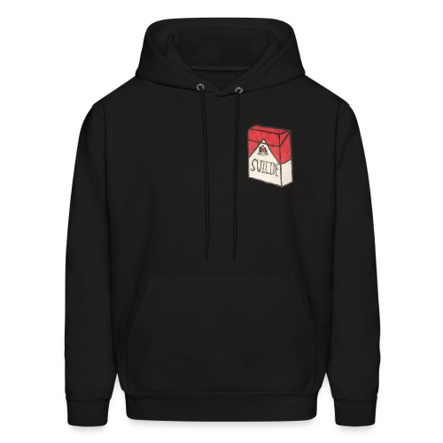 Mens Suicide Cigarette Box Logo Hoodie - Men's Hoodie