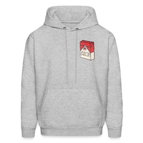 Mens Suicide Cigarette Box Logo Hoodie (Grey) - Men's Hoodie
