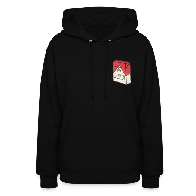 "Womens ""Suicide Cigarette Box Logo"" Hoodie"