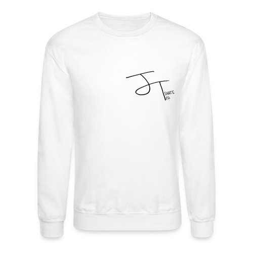 Unisex J.T. Skate Co Logo Crewneck Hoodie (White) - Crewneck Sweatshirt