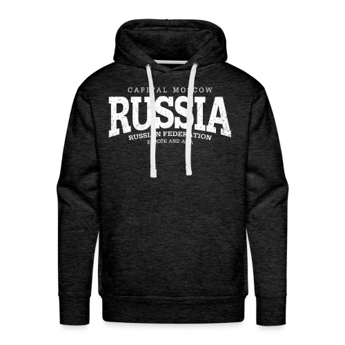 Russia (white oldstyle) - Men's Premium Hoodie