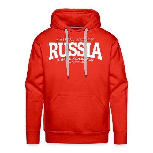 Russia (white) - Men's Premium Hoodie