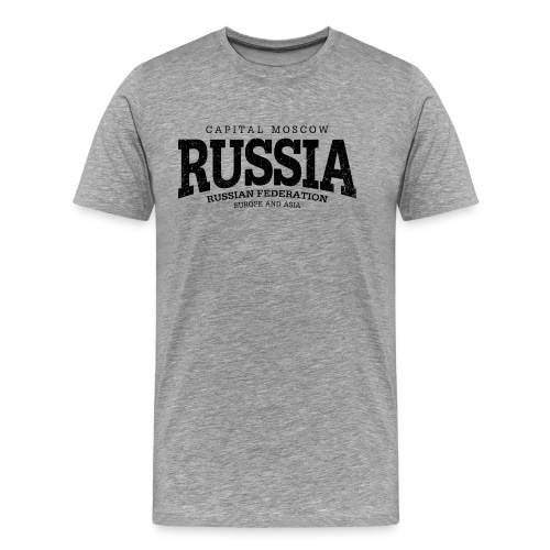 Russia (black oldstyle) - Men's Premium T-Shirt