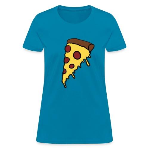 Women's Drippy Pizza - Women's T-Shirt