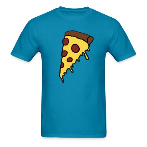 Men's Drippy Pizza - Men's T-Shirt