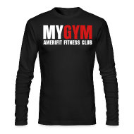 Long Sleeve Shirts ~ Men's Long Sleeve T-Shirt by Next Level ~ MY GYM