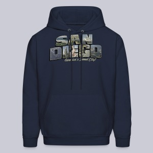 San Diego Post Card - Men's Hoodie