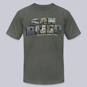San Diego Post Card - Men's T-Shirt by American Apparel