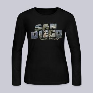 San Diego Post Card - Women's Long Sleeve Jersey T-Shirt