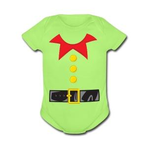 Santa's Little Helper - Short Sleeve Baby Bodysuit