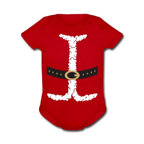 Baby Santa - Organic Short Sleeve Baby Bodysuit