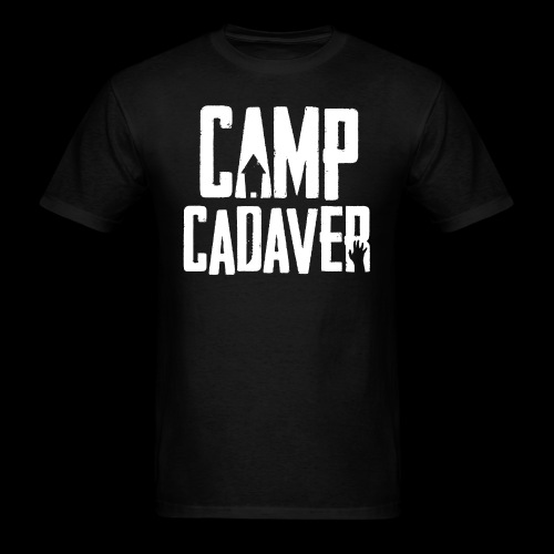 Camp Cadaver White Logo (Male) - Men's T-Shirt
