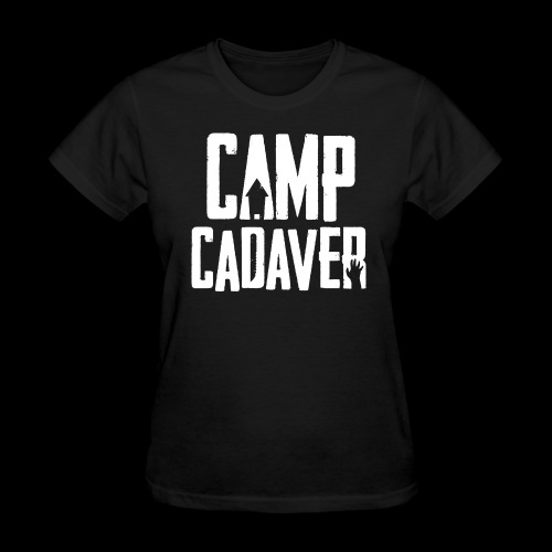 Camp Cadaver White Logo (Female) - Women's T-Shirt