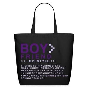 BOYFRIEND- Love Style Wideneck Tote - Eco-Friendly Cotton Tote