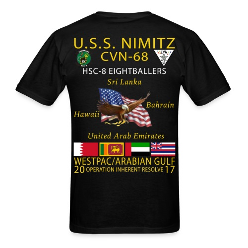 USS NIMITZ w/ HSC-8 CRUISE SHIRT - Men's T-Shirt