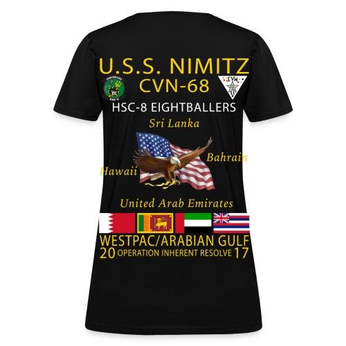 USS NIMITZ w/ HSC-8 WOMENS CRUISE SHIRT - Women's T-Shirt