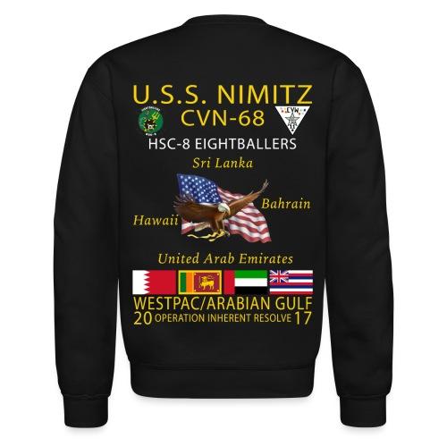 USS NIMITZ w/ HSC-8 CRUISE SWEATSHIRT - Crewneck Sweatshirt