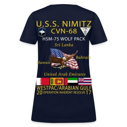 USS NIMITZ w/ HSM-75 WOMENS CRUISE SHIRT - Women's T-Shirt