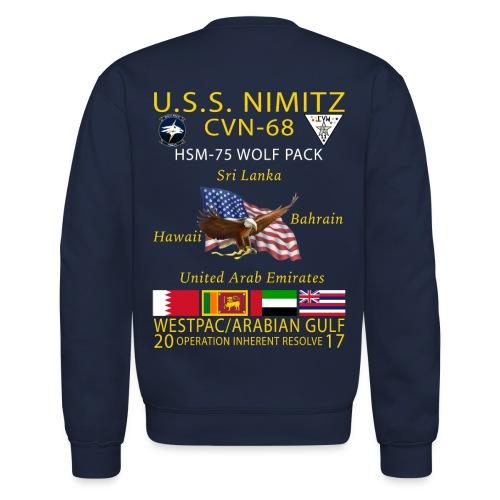 USS NIMITZ w/ HSM-75 CRUISE SWEATSHIRT - Crewneck Sweatshirt