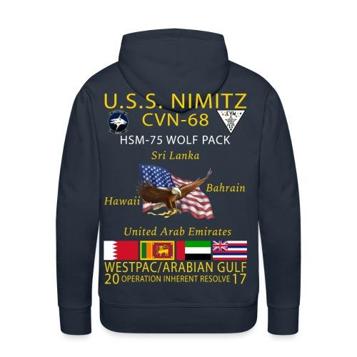 USS NIMITZ w/ HSM-75 CRUISE HOODIE - Men's Premium Hoodie