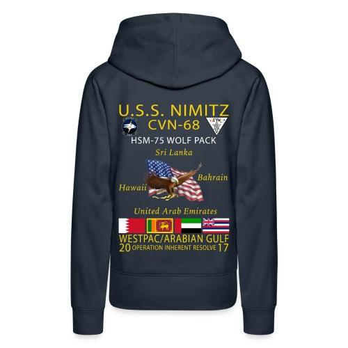 USS NIMITZ w/ HSM-75 WOMENS CRUISE HOODIE - Women's Premium Hoodie