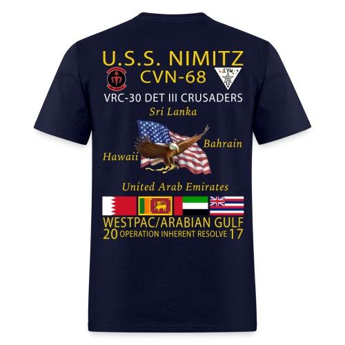 USS NIMITZ w/ VRC-30 DET III CRUISE SHIRT - Men's T-Shirt