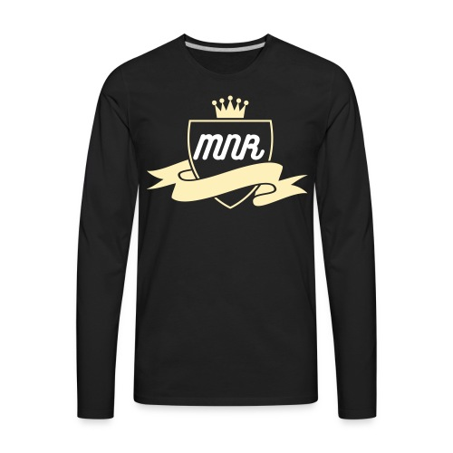 MNR (KING AND SHIELD CREAM) MENS  - Men's Premium Long Sleeve T-Shirt