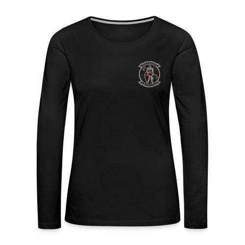 VFA-154 BLACK KNIGHTS WOMENS LONG SLEEVE - Women's Premium Long Sleeve T-Shirt