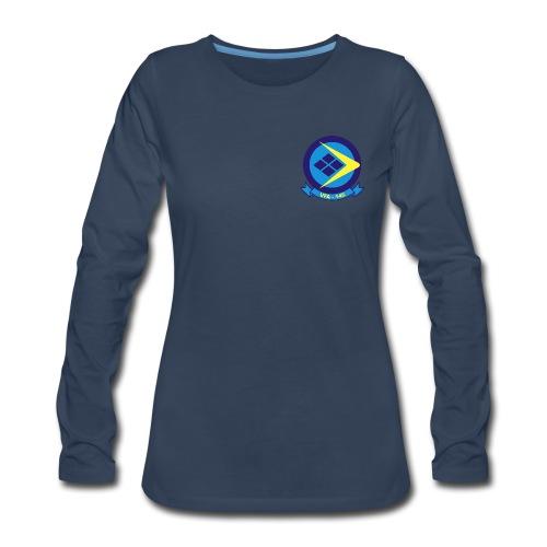 VFA-146 BLUE DIAMONDS WOMENS LONG SLEEVE - Women's Premium Long Sleeve T-Shirt
