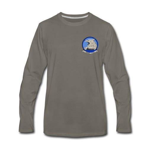 VAQ-142 GRAY WOLVES LONG SLEEVE - Men's Premium Long Sleeve T-Shirt