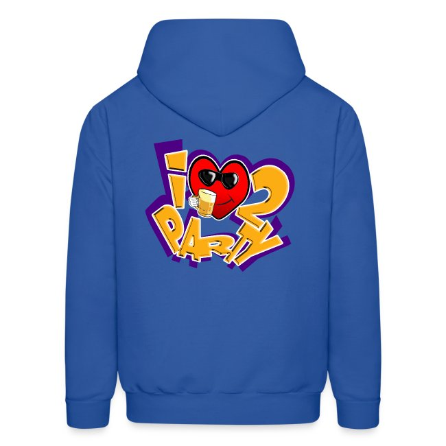 I Love To Party. TM  mens hoodie