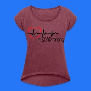 Women's Roll Cuff T-Shirt #SCADstrong Heather Burgundy - Women's Roll Cuff T-Shirt