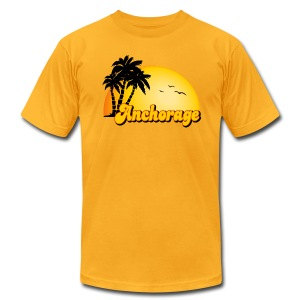 Anchorage Sun American Apparel T-Shirt - Men's T-Shirt by American Apparel