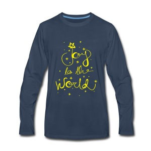 Joy to the world   Premium Long Sleeve T-Shirt - Men's Premium Long Sleeve T-Shirt