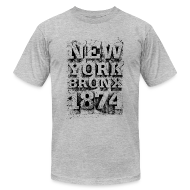 T-Shirts ~ Men's T-Shirt by American Apparel ~ New York Bronx 1874 (black)
