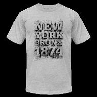 T-Shirts ~ Men's T-Shirt by American Apparel ~ New York Bronx 1874 (black)