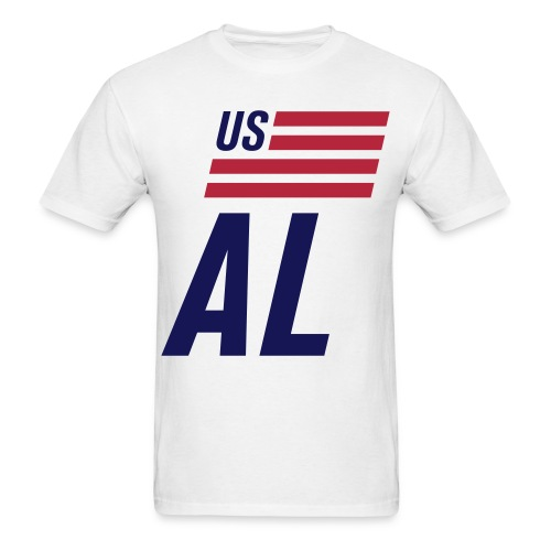 US flag Alabama - Men's T-Shirt